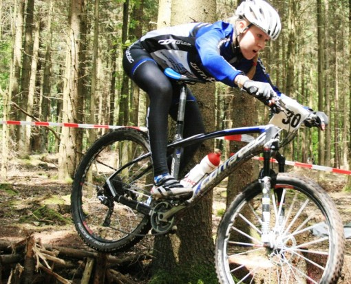 Lisa Neumüller, Team corratec, Platz 3 in der MTB Bundesliga in Pracht